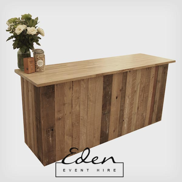 Rustic Wooden Bar front / Table Top
